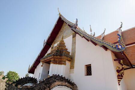 min: Nan, North of Thailand - 09 Dec, 2016: Phu Min Temple, White church