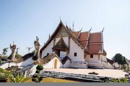Nan, North of Thailand - 09 Dec, 2016: Phu Min Temple, White church