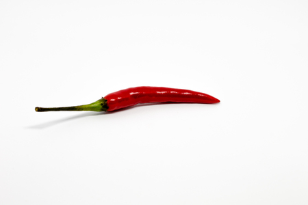 Red Hot Chilli Pepper of Thailand isolated on the white background Banque d'images