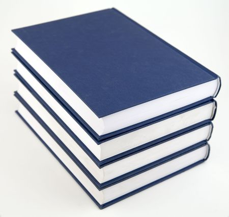 stack of books on the white background Standard-Bild