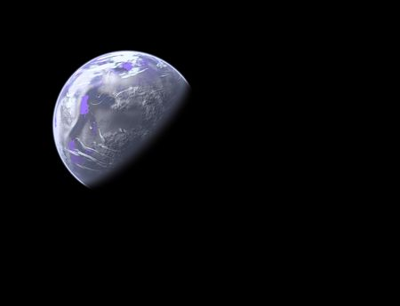 blue planet in space - realistic clouds and continents Stock Photo - 746731