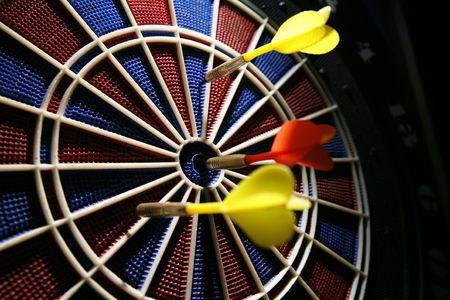 Dart Board in der Bar  Standard-Bild - 746701