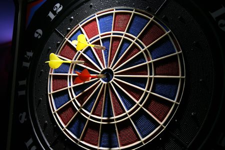 dart board in the bar photo