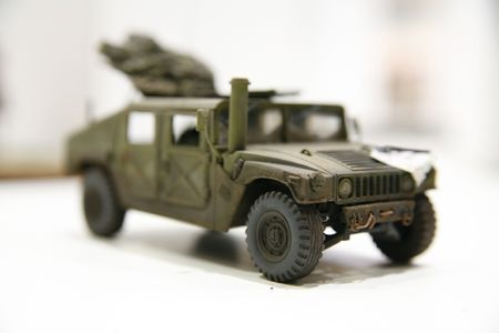 photo of hum-vee model with small depth of field - Hobby Exhibition in Poznan (Poland) photo