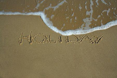 holiday inscription on the beach Stock Photo - 746525
