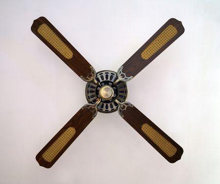 old retro ventilator isolated on white background photo