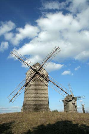 windmills in Lednogora (Poland) photo