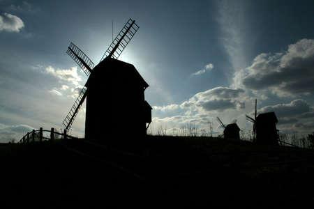 windmill in Lednogora, Poland, 1859 photo