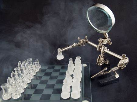 chequer: smoky glass chess and third hand as a player