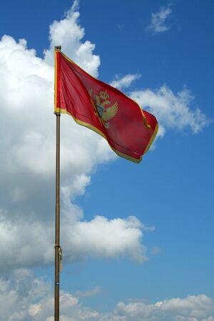serbia and montenegro: Serbia and Montenegro flag in Kotor