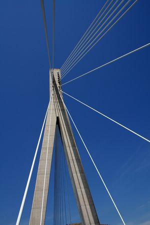 frank: Dr. Frank Tudmans bridge in Dubrovnik (Croatia) Stock Photo