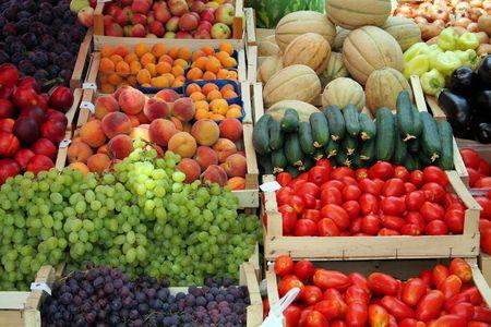 fruit and vegetable market in Korcula (Croatia) photo