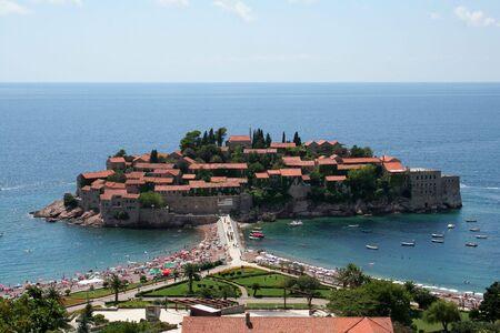 sveti: Sveti Stevan island in Montenegro Stock Photo