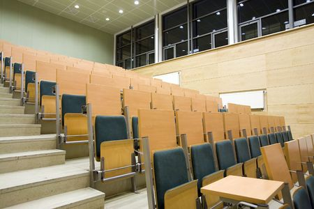 lecture hall in Adam Mickiewicz University in Poznan photo