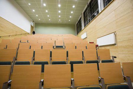 poznan: lecture hall in Adam Mickiewicz University in Poznan
