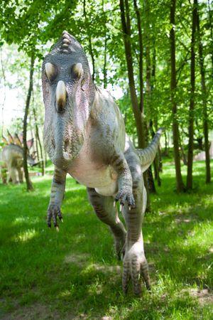 carboniferous: Jurrasic park - set of dinosaurs - Ceratosaurus nasicornis