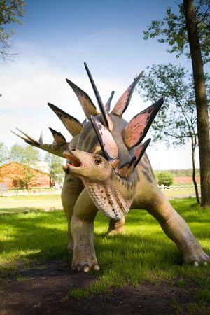 carboniferous: Jurrasic park - set of dinosaurs - Stegosaurus armatus