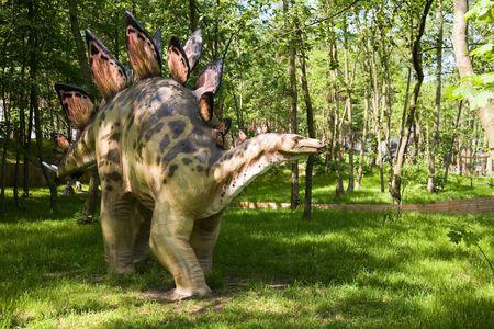 Jurrasic Park - Satz Dinosauriere - Stegosaurus armatus Standard-Bild - 991316