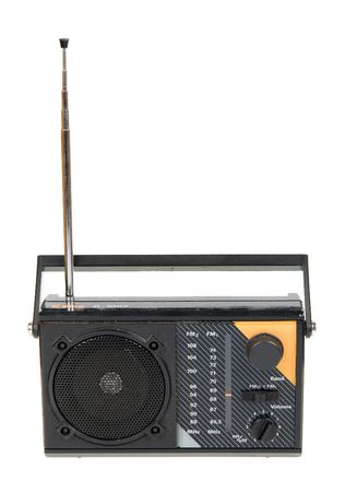 radio frequency: an old radio isolated on white background