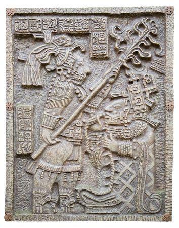 ancient maya ornament isolated on white background Standard-Bild