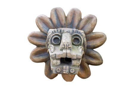 Alten Azteken Befreiung isoliert auf weißem Hintergrund Standard-Bild - 2159335