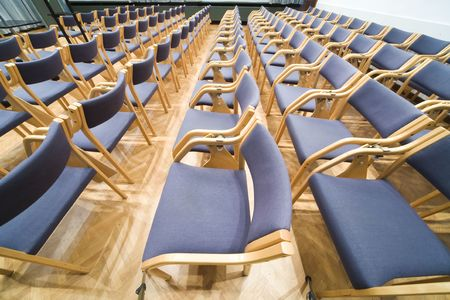 empty rows of chairs in conference room Stock Photo - 2724555