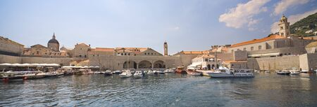 Dubrovnik, Croatia - view from seaside on the old port photo