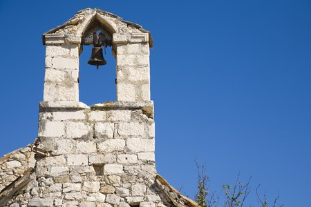 chappel: old bell on the chappel - Croatia