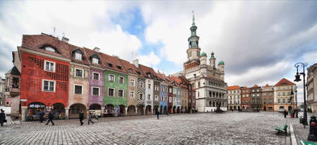 old town hall in Poznan - Poland, photo at 12 mm photo