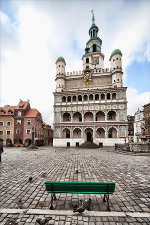 Altes Rathaus in Poznan - Polen, Foto bei 12 mm Standard-Bild - 4465919