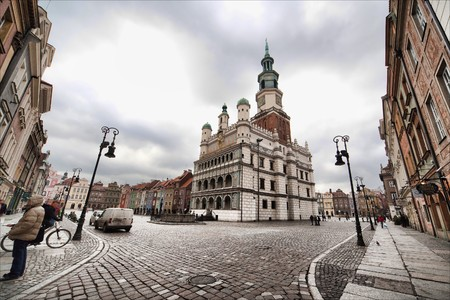poznan: old town hall in Poznan - Poland, photo at 12 mm
