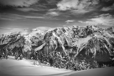 winter landscape - photo taken in italian dolomites Stock Photo - 4488911