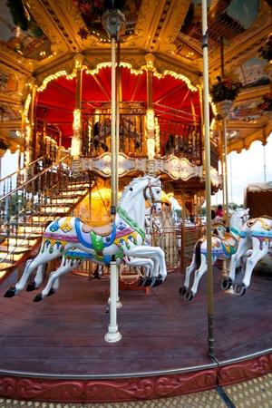 Colorful Carousel near Eiffel Tower