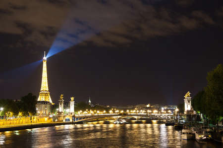 a view of Paris at night
