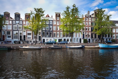 gabled house: a picture of one of beutiful Amsterdams buildings
