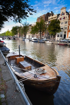 river bank: a picture of one of beutiful Amsterdams canal