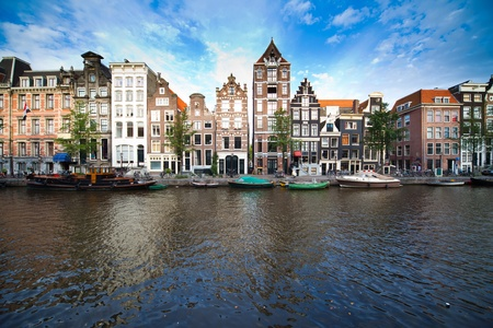 gabled: a picture of beutiful Amsterdams landscape