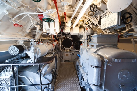 German world war 2 submarine - aft torpedo room - ultra wide angle photo Stock Photo - 16652596
