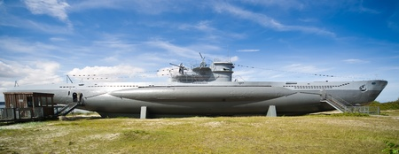 German world war 2 submarine type VIIC 41 -  ultra wide angle photo Stock Photo - 16652601