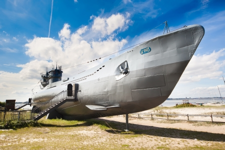 German world war 2 submarine type VIIC 41 -  ultra wide angle photo