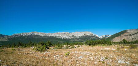 paklenica: Veliko Rujno Plateau in Paklenica National Park - Velebit mountains, Croatia Stock Photo
