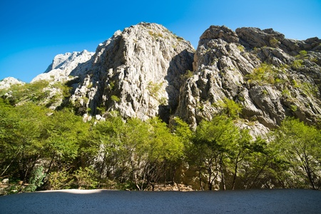 paklenica: Canyon in Paklenica National Park - Velebit mountains
