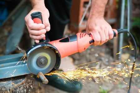 grinder machine: grinder machine while working