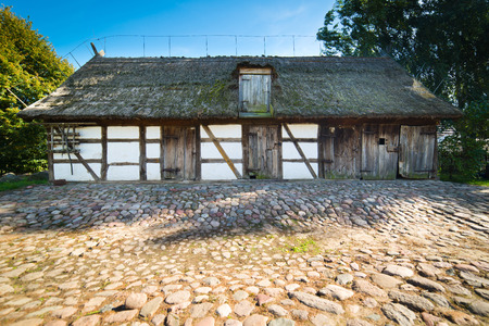 rustical: Old rural barn in polish heritage park - XIXth century