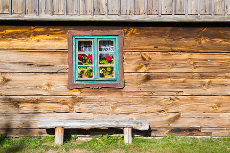 rustical: Old rural home in polish heritage park Stock Photo