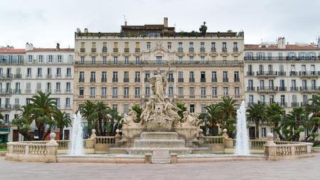 toulon: Place de la Liberté - fountain of Liberty square in Toulon Editorial