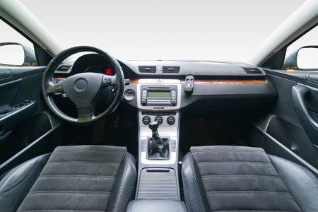 car inside: Interior of luxury car Stock Photo