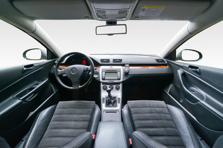 Interior of luxury car Imagens