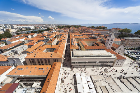 Panorama of Zadar - view from cathedral tower