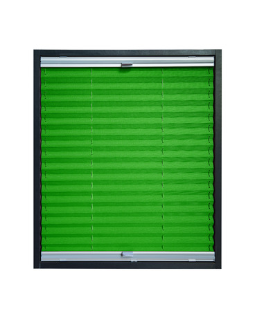 pleated: Pleated blind isolated on white background